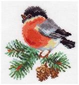 Алиса Набор для вышивания крестиком Снегирек 14 х 14 см (1-15)