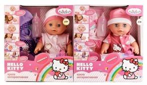 Интерактивный пупс Карапуз Hello Kitty, 30 см, в ассортименте, Y30-DP-OTF-RU-HK