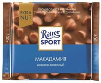 Шоколад Ritter Sport Extra Nut молочный макадамия