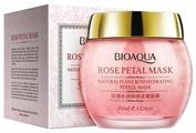 BioAqua Ночная смягчающая маска Rose Petal с лепестками роз