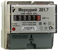 Счетчик электроэнергии однофазный однотарифный INCOTEX Меркурий 201.7 5(60) А