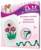 D&M Набор для вышивания лентами Васильки (47655)