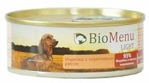 Корм для собак BioMenu Light консервы для собак с индейкой и коричневым рисом