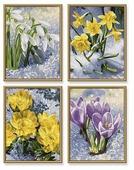 """Schipper Картины по номерам """"Весеннее пробуждение цветов"""" 18х24 см, 4 шт (9340713)"""