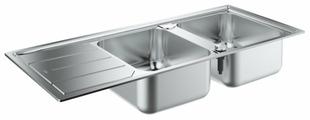 Врезная кухонная мойка Grohe K500 31588SD0 116х50см нержавеющая сталь