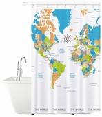 Штора для ванной Tatkraft Map 180x180