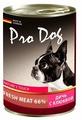 Корм для собак Pro Dog Для собак дичь с клюквой консервы