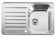 Интегрированная кухонная мойка Blanco Lantos 45S-IF 76.8х48.8см нержавеющая сталь