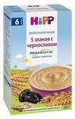 Каша HiPP молочная 5 злаков с черносливом с пребиотиками (c 6 месяцев) 250 г