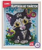 LORI Картина из пайеток Мечтающий котенок Ап-013