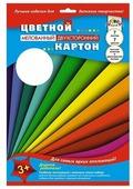 Цветной картон Цветные полосы Апплика, A4, 7 л., 7 цв.