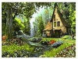"""Цветной Картина по номерам """"Домик в лесу"""" 40х50 см (GX3222)"""