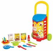 Набор продуктов с посудой Dolu с закрытой тележкой DL_4108