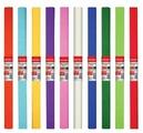 Цветная бумага крепированная в рулоне, 10 цветов BRAUBERG, 50х250 см, 1 л. в ассортименте