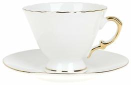 "Best Home Porcelain Чайная пара ""Белое золото"" 220 мл (подарочная упаковка)"