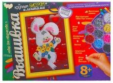 Danko Toys Набор для вышивания крупным бисером и лентами Зайчик (БВ-02-03)