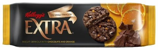 Печенье Kellogg's Extra гранола с шоколадом и апельсином, 150 г