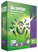 Dr.Web Security Space (1 ПК, 1 год) коробочная версия