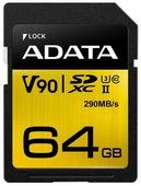 Флеш карта SD 64GB A-DATA Premier ONE SDXC Class 10 UHS-II U3 V90 290MB/s