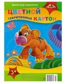 Цветной картон гофрированный Тигренок Апплика, A4, 5 л., 5 цв.