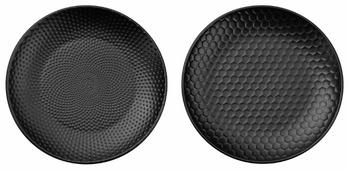 ASA Selection Набор тарелок blacktea капли и соты 20,3 см, 2 шт