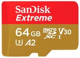 Карта памяти SanDisk Extreme microSDXC Class 10 UHS Class 3 V30 A2 160MB/s + SD adapter