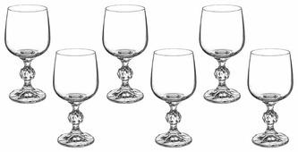 Bohemia Crystal Набор бокалов для вина Клаудия 230 мл 6 шт