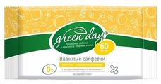 Влажные салфетки GREEN DAY Детские с экстрактом ромашки и витамином Е