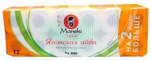 Туалетная бумага Maneki Yo me Японская айва белая двухслойная