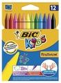 BIC Цветные мелки Plastidecor 12 цветов (945764)