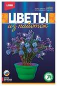 LORI Цветы из пайеток Синие васильки Цв-003