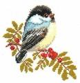 Алиса Набор для вышивания крестиком Синичка 15 x 14 см (1-12)