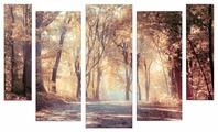 Модульная картина Картиномания Дорога в осень