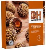 Пирожное BAKER HOUSE Птифур карамель с арахисом