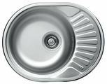 Врезная кухонная мойка Kromevye Rondo EX157 57х45см нержавеющая сталь