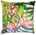 Подушка декоративная Gift'n'Home Два фламинго (зеленый фон) 35х35 см (PLW-35 2Flamingo(g))