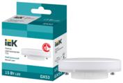 Лампа светодиодная IEK ECO таблетка 4000K, GX53, T75, 15Вт