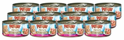 Корм для кошек Petreet Puro Sapore Кусочки тунца с креветками в рыбном супе