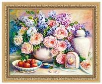 Алмазная живопись Набор алмазной вышивки Розовый натюрморт (АЖ-1374) 50х40 см