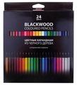 Hatber цветные карандаши BLACK DIAMOND, 24 цвета (BKc_24830)