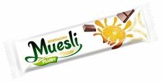 Злаковый батончик Muesli plus в шоколадной глазури Апельсин, 6 шт