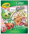 Crayola Раскраска с наклейками. Shopkins Color & Sticker