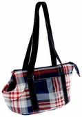Переноска-сумка для собак Бобровый Дворик Шотландка №0 46х20х22 см