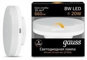 Лампа светодиодная gauss 108408108-D, GX53, GX53, 8Вт