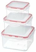 Giaretti Набор контейнеров для продуктов Clipso квадратные