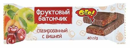 Фруктовый батончик ОГО! в шоколадной глазури Вишня, 40 г