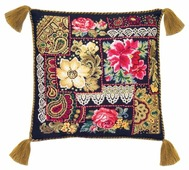 Риолис Набор для вышивания крестом Подушка Цветочная композиция 40 х 40 см (761)