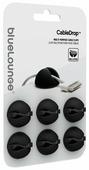 Комплект из 6 резиновых держателей-липучек для проводов Bluelounge CableDrop, Цвет: белый