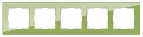 Рамка для выключателя и розетки Werkel Favorit 5 постов WL01-Frame-05 фисташковый [a036591]