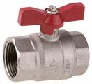 Кран шаровый ЗУБР 51353-N-1 муфтовый (ВР/ВР), латунь